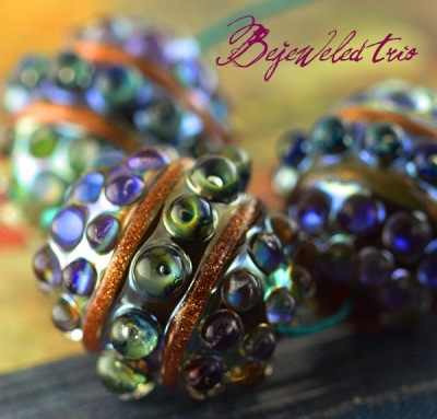 Bejeweled Barrel Beads!