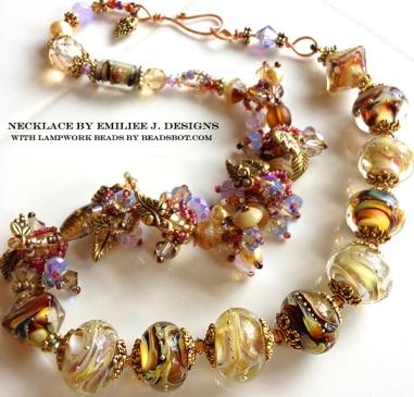 Emiliee Jessen Lampwork Jewelry with Paradise Lampwork