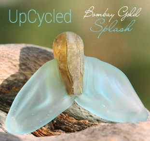 Upcycled Whale Tail Bead