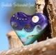 Fantastic Tortoiseshell gold heart focal bead