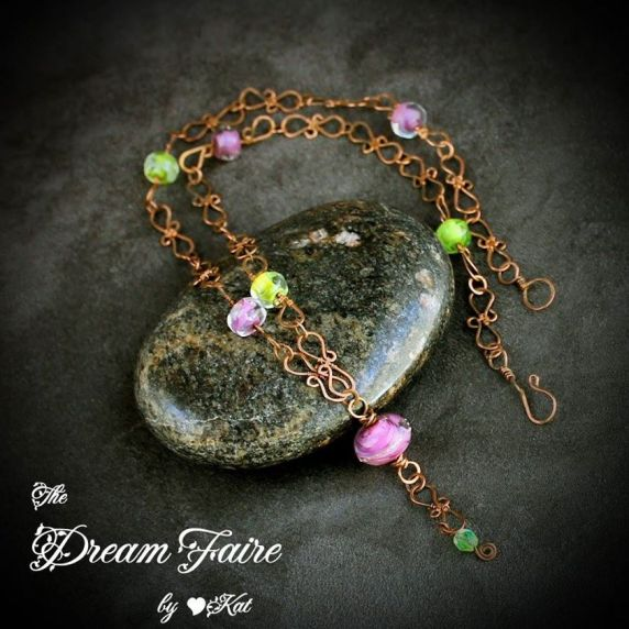 Dream Faire Designer necklace with Paradise lampwork