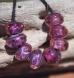 purple rain organic glass seed beads lampwork