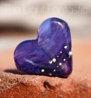 The Light Fantastic Glass Heart Bead