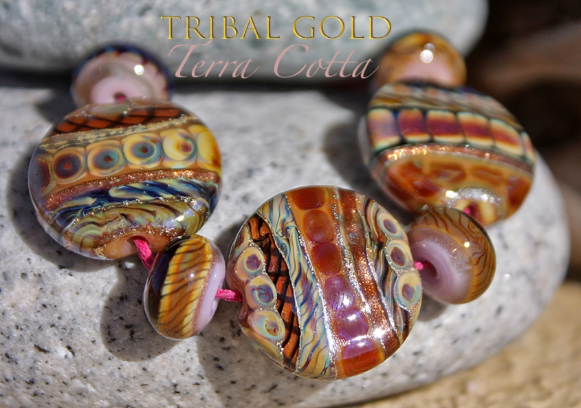 TribalGoldTerraCottaButtons