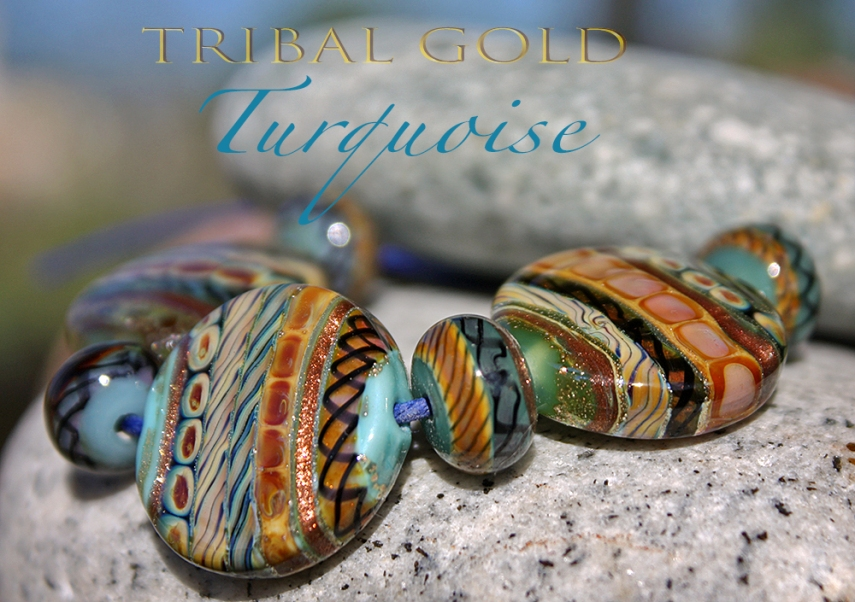 TribalGoldTurquoiseButtons