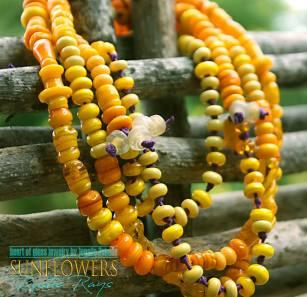 SunflowersRusticRaysnecklace