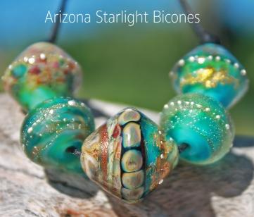 Handmade Lampwork Bicone Beads
