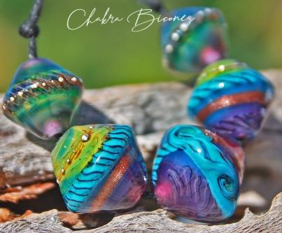 Chakra beads! Handmade glass Lampwork