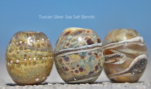 Handshaped glass barrel beads