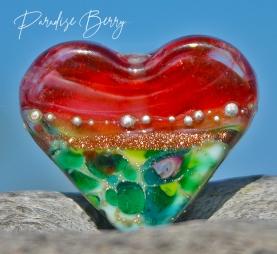 Handmade Glass Heart Bead