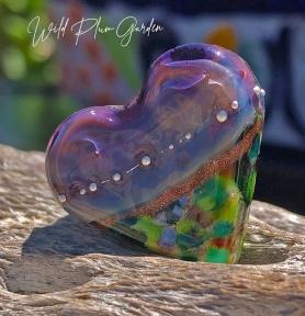 Handmade Lampwork Heart Bead